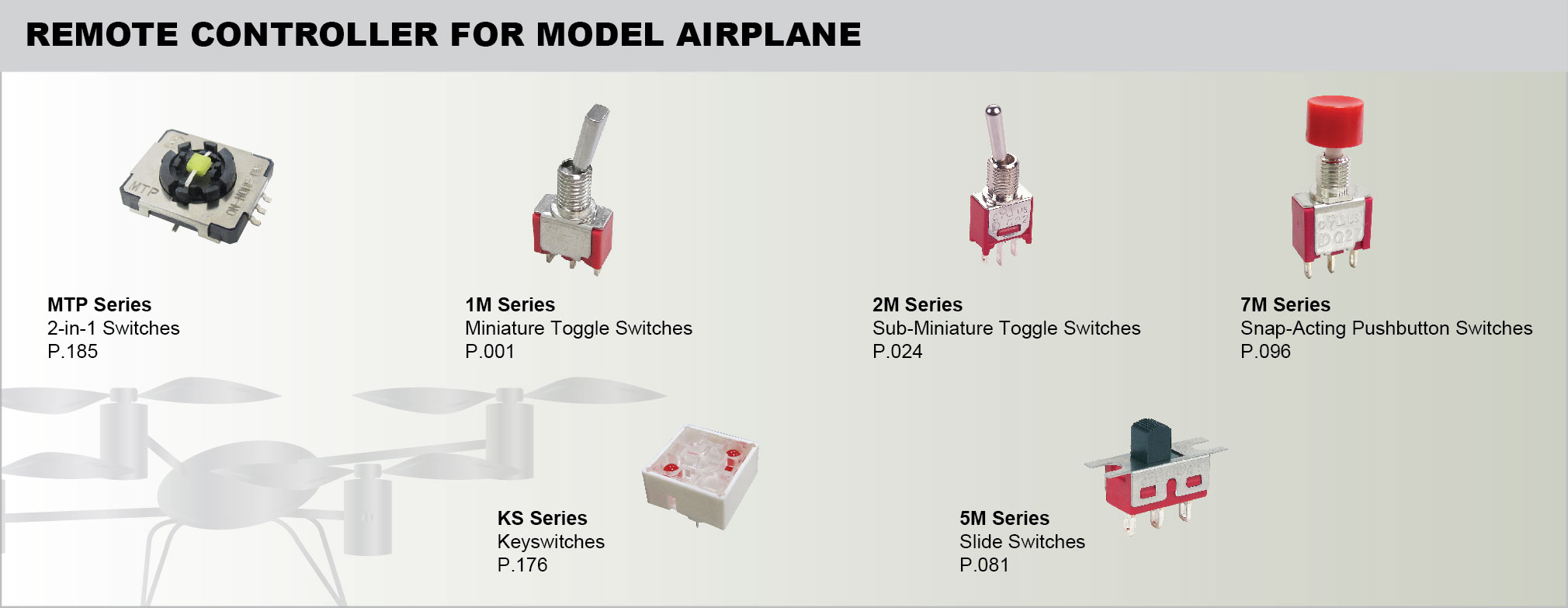 REMOTE CONTROLLER FOR MODEL AIRPLANE