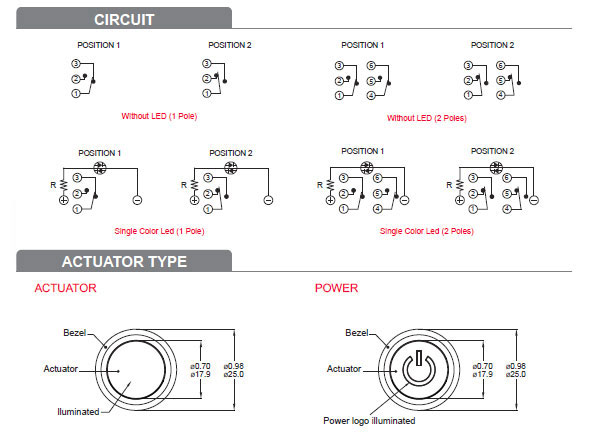 KPB22 Series Circuit & Actuator-Type